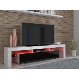ARGOS TV CABINET - BLACK HIGH GLOSS