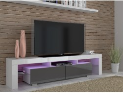 ARGOS TV CABINET - GREY HIGH GLOSS